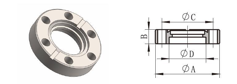 Nonrotatable Flange (CF-F)