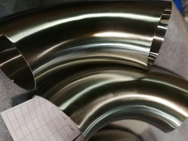 Sanitary stainless steel 90 degree elbow